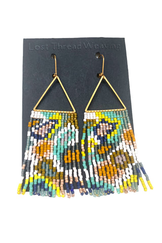 Val Fringe Earrings - Multicolour abstract