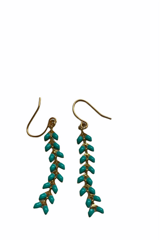 Coloured Chevron Dangle Earrings