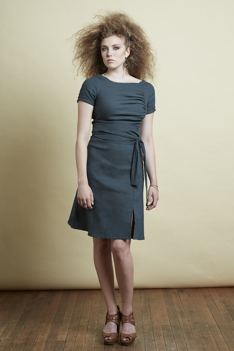 melow, mode montreal, made in montreal, ramona dress, front view