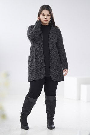 RIEN NE SE PERD Atmosphere Vest in Charcoal FW2020/2021 (styled, front view, size extra large)