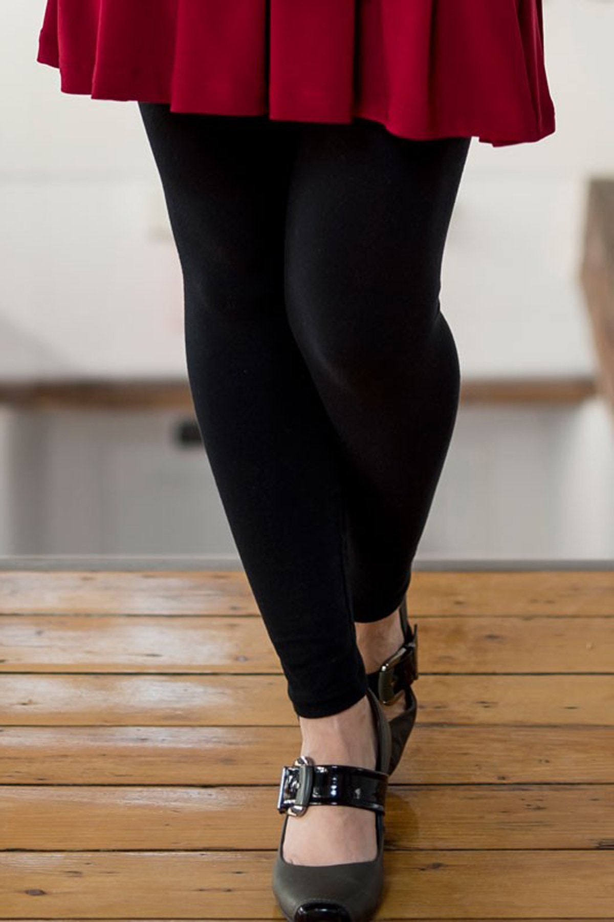 Long Uni Legging by Rien ne se Perd Tout se Cree, black, long legging, rayon and bamboo, sizes XS to XXL, made in Quebec