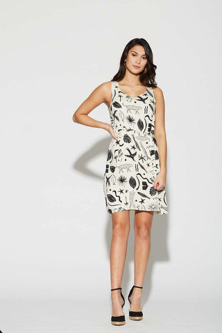 West Coast Dress in Leopards by Cherry Bobin Made in Canada