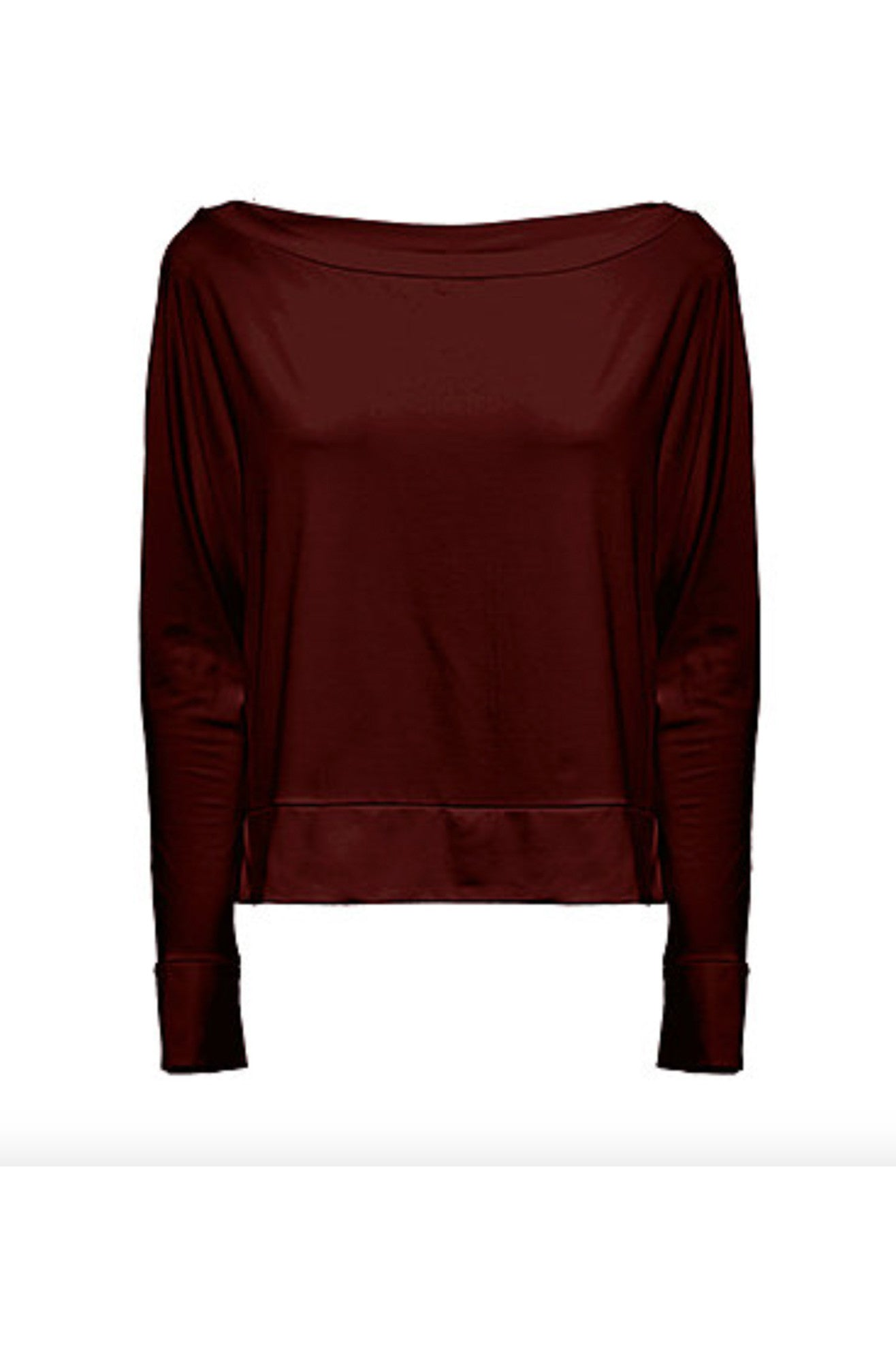 Sakura Melow Top in Marsala, Organic Bamboo knit, comfy and stylish basic, made in Montreal Canada