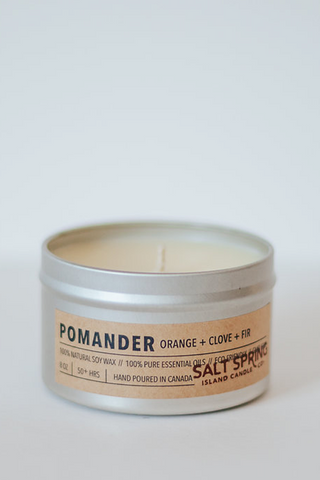 Pomander Candle  - Orange + Clove + Douglas Fir