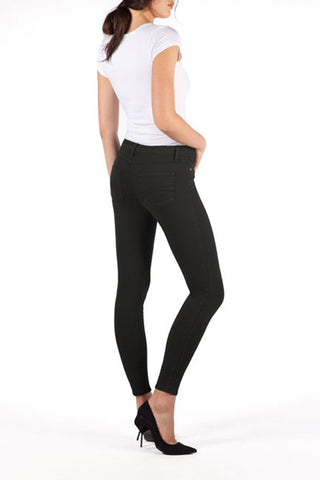 SWP1330 Yoga Jeans High Rise Ankle Black Light Side View