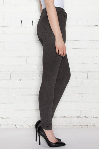 SWP1541 High Rise Skinny Charcoal Ponte Yoga Jeans