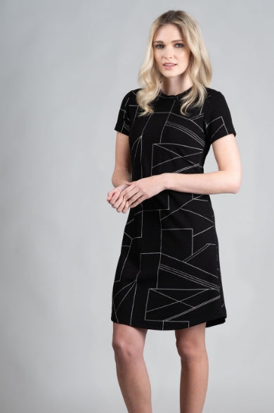 DINH BA CouCou Dress in Graphic Black FW2020/2021