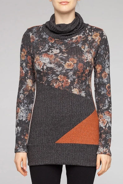 KOLLONTAI Rust Ezio Tunic, front view, Kollontai Fall/Winter 2020/2021, Sizes XS - XL