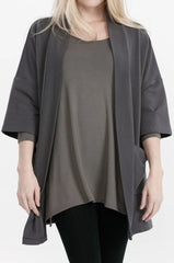 ADVIKA Joanne Cardigan in Grey - unavailable colour option (front view, detail) FW2020/2021