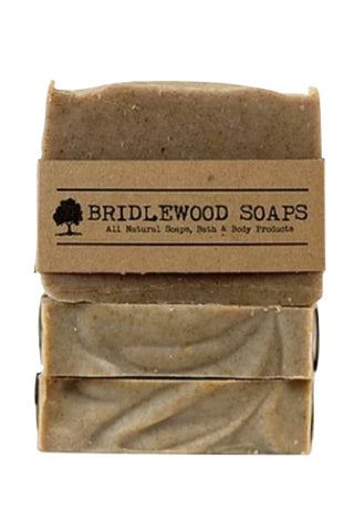 BRIDLEWOOD SOAPS Green Tea Shampoo Bar (stacked)