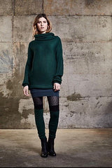 Uther Sweater by Melow par Melissa Bolduc, high collar, draped, ribbed, long sleeves, banded hem, sizes XS to XXL, made in Montreal