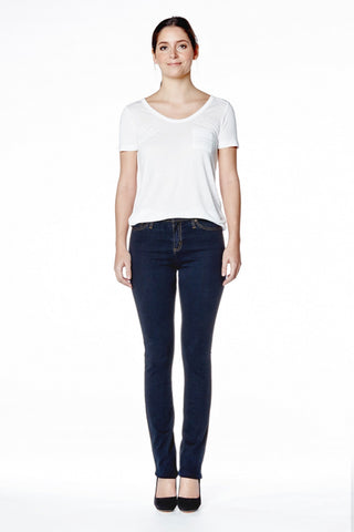 Malia -  High Rise Relaxed Slim Chino Yoga Jean - Rome
