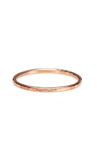 Hammer Textured Stacking Ring • 14 Karat Rose Gold Filled