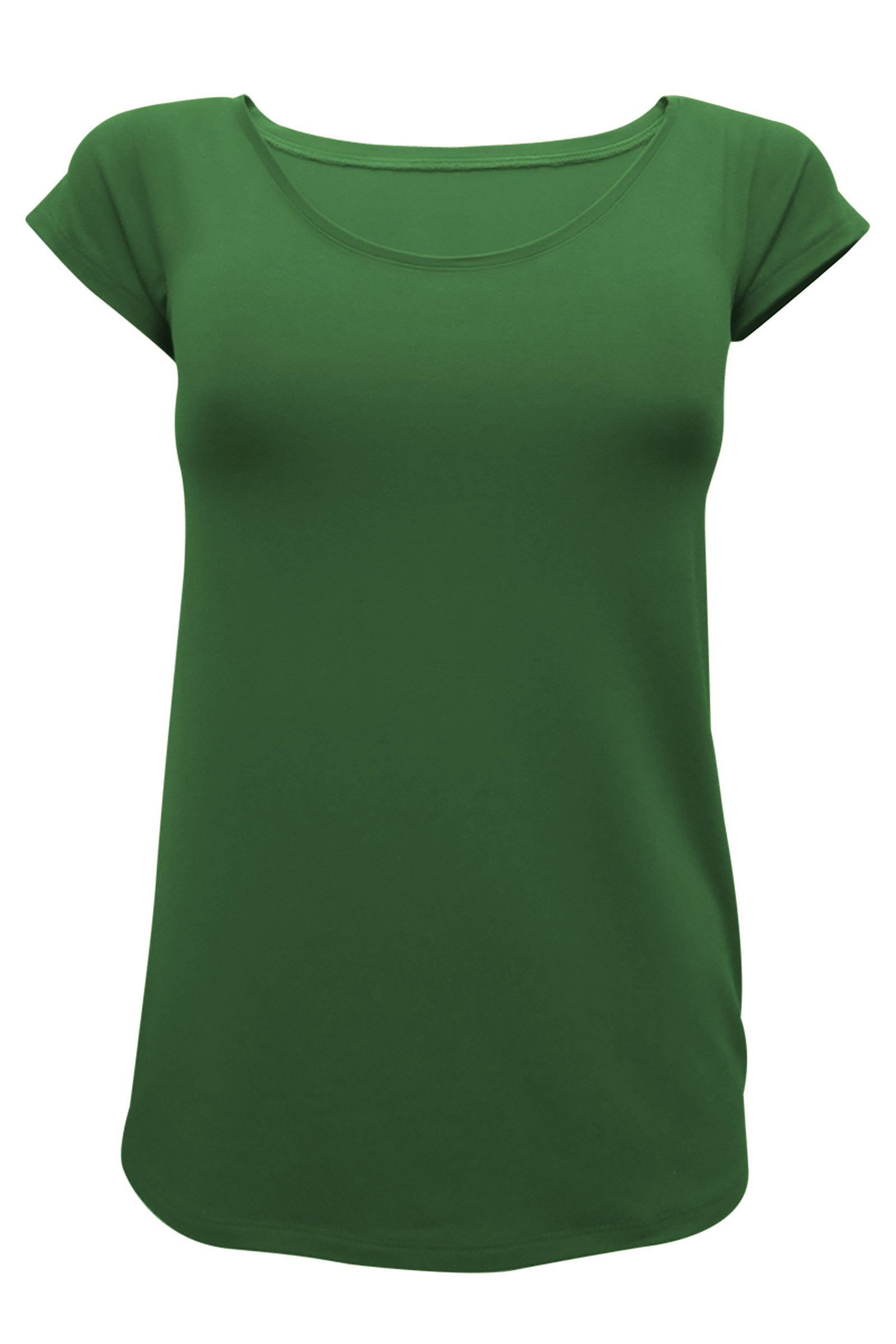 Amy Short Sleeve Tee by Moovment, Avocado, short sleeves, round neck, close fit, bamboo, sizes XS to XXL, made in Quebec
