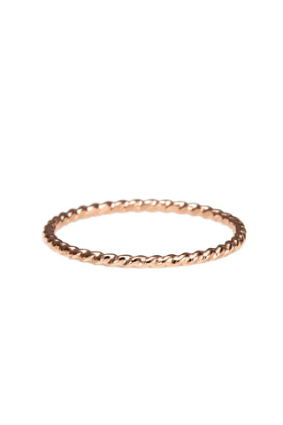 Twisted Stacking Ring • 14 Karat Rose Gold Filled