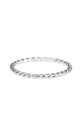 Twisted Stacking Ring • Sterling Silver