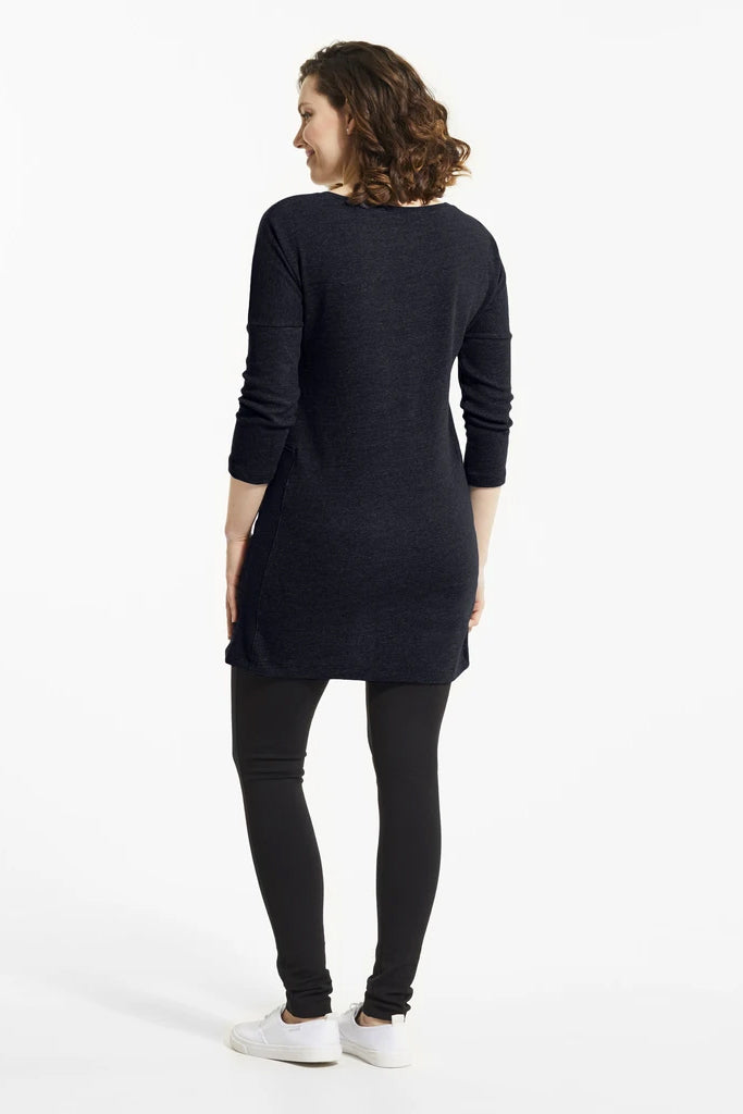 Atlantic YBA Tunic, Rear view, navy blue, boat neckline, easy fit, FIG Fall/Winter 2020/2021, Sizes XS - XL