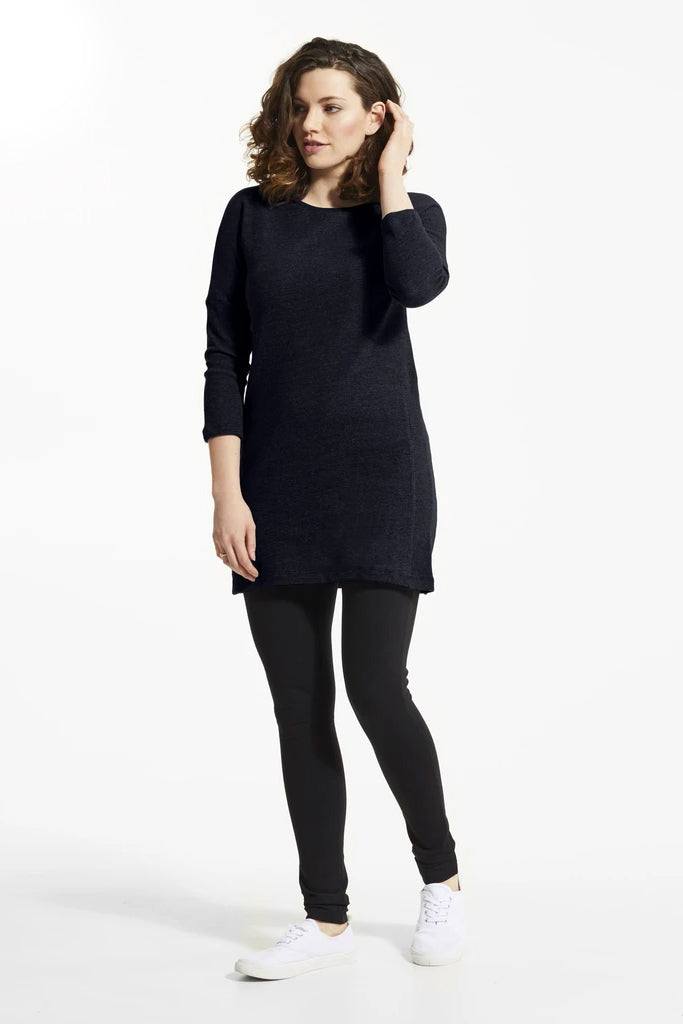 Atlantic YBA Tunic, Front view, navy blue, boat neckline, easy fit, FIG Fall/Winter 2020/2021, Sizes XS - XL