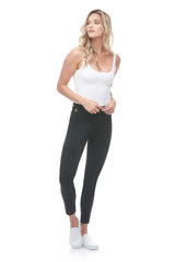 High Rise Ankle Jeans, Black Silence, skinny fit, Rachel style, sizes 24-34, 27 inch inseam, made in Canada