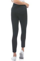 High Rise Ankle Jeans, back view, Black Silence, skinny fit, Rachel style, sizes 24-34, 27 inch inseam, made in Canada