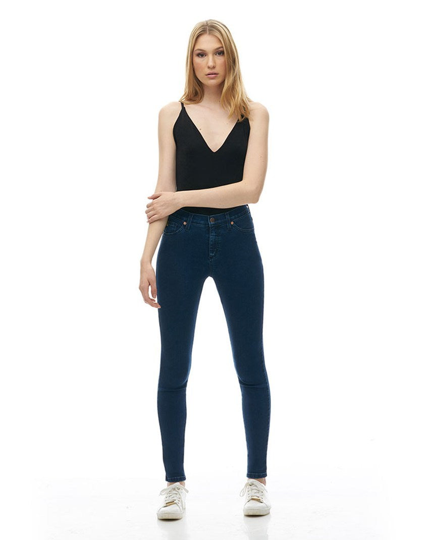 Classic Rise Skinny Rachel Yoga Jean, Sunrise, super stretchy, 30 inch inseam, blue, sizes 24-34, made in Canada