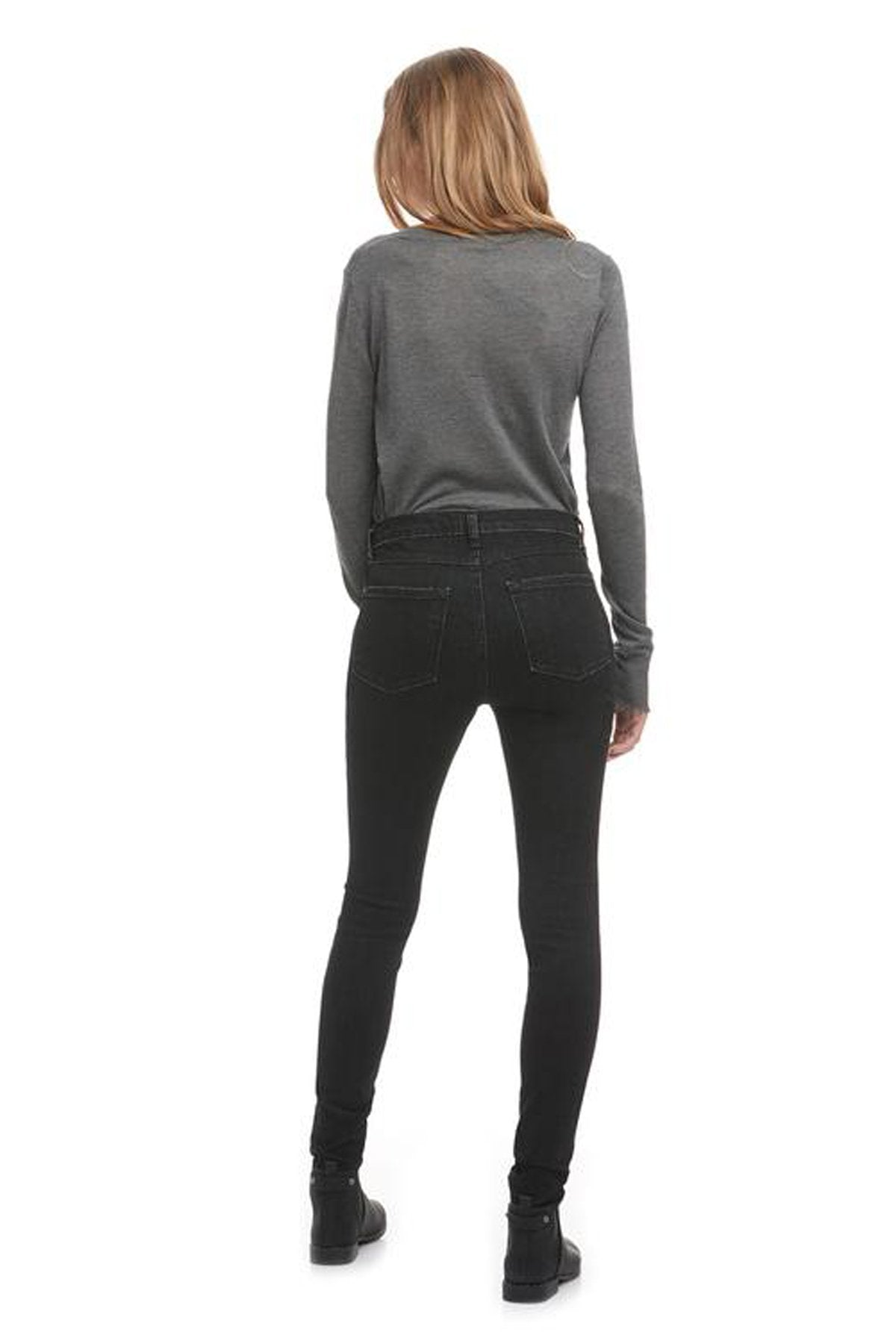 High Rise Skinny Yoga Jean, Desirade, back view, high waist, skinny fit, 30 inch inseam, sizes 24-34, made in Canada