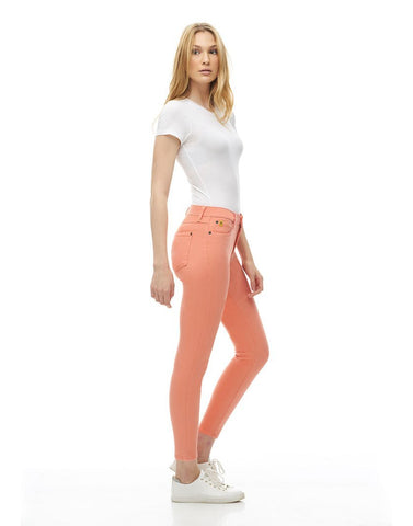 Second Denim Yoga Jeans Classic Rise Skinny, Magnolia, side view, sizes 25-32, made in Canada, style 1686-R27