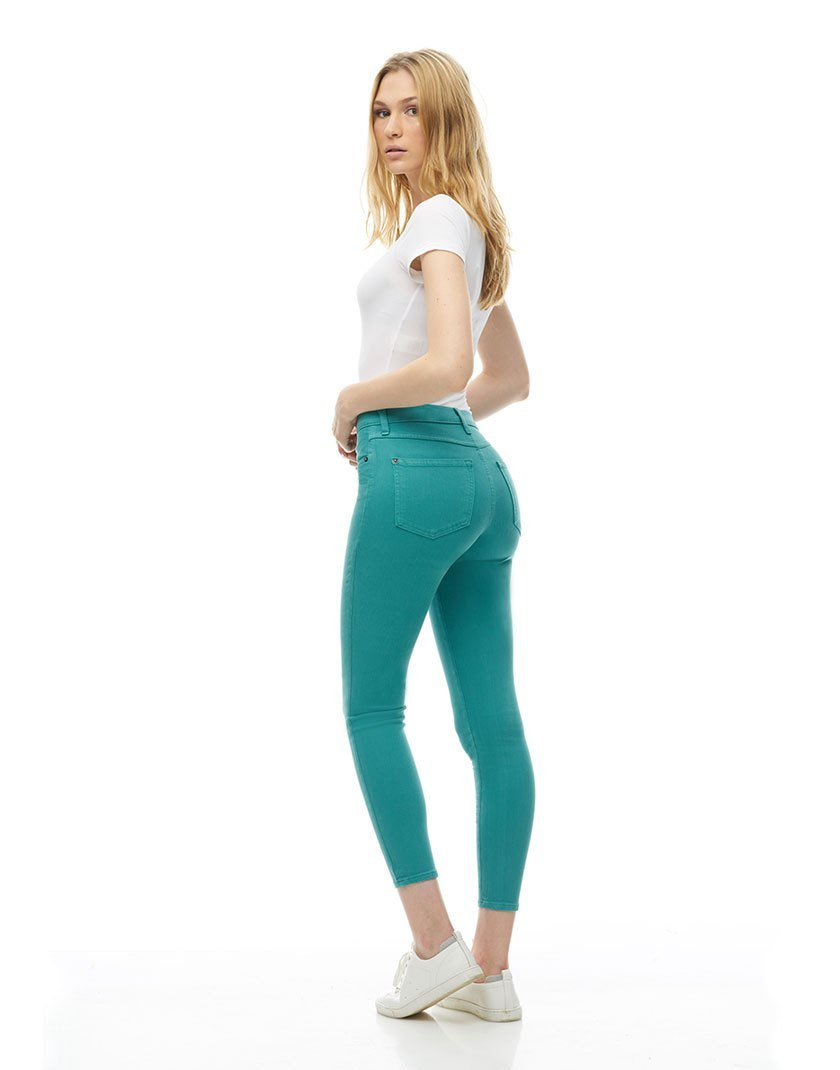 Second Denim Yoga Jeans Classic Rise Skinny, Orchid, side view, sizes 25-32, made in Canada, style 1686-R27
