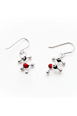 Alcohol Molecule Earrings - CH3CH2OH