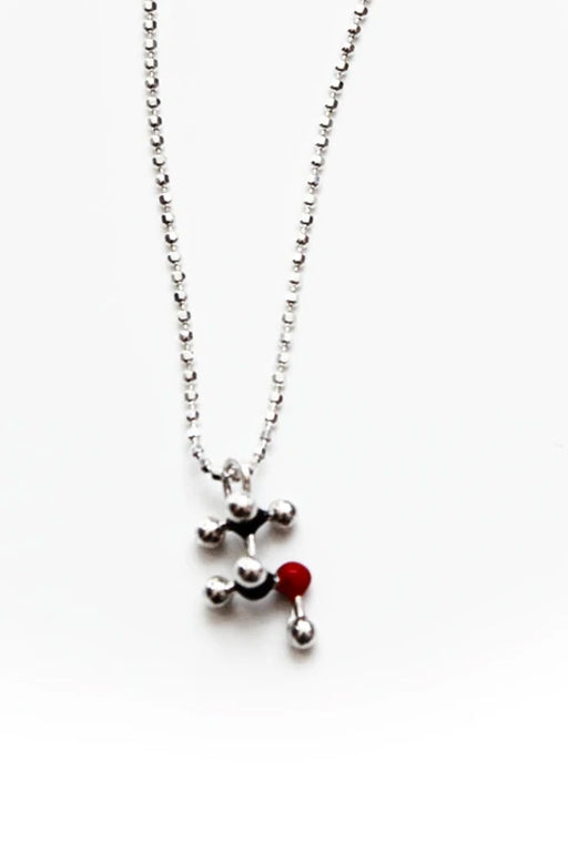 Alcohol Molecule Necklace - CH3CH2OH