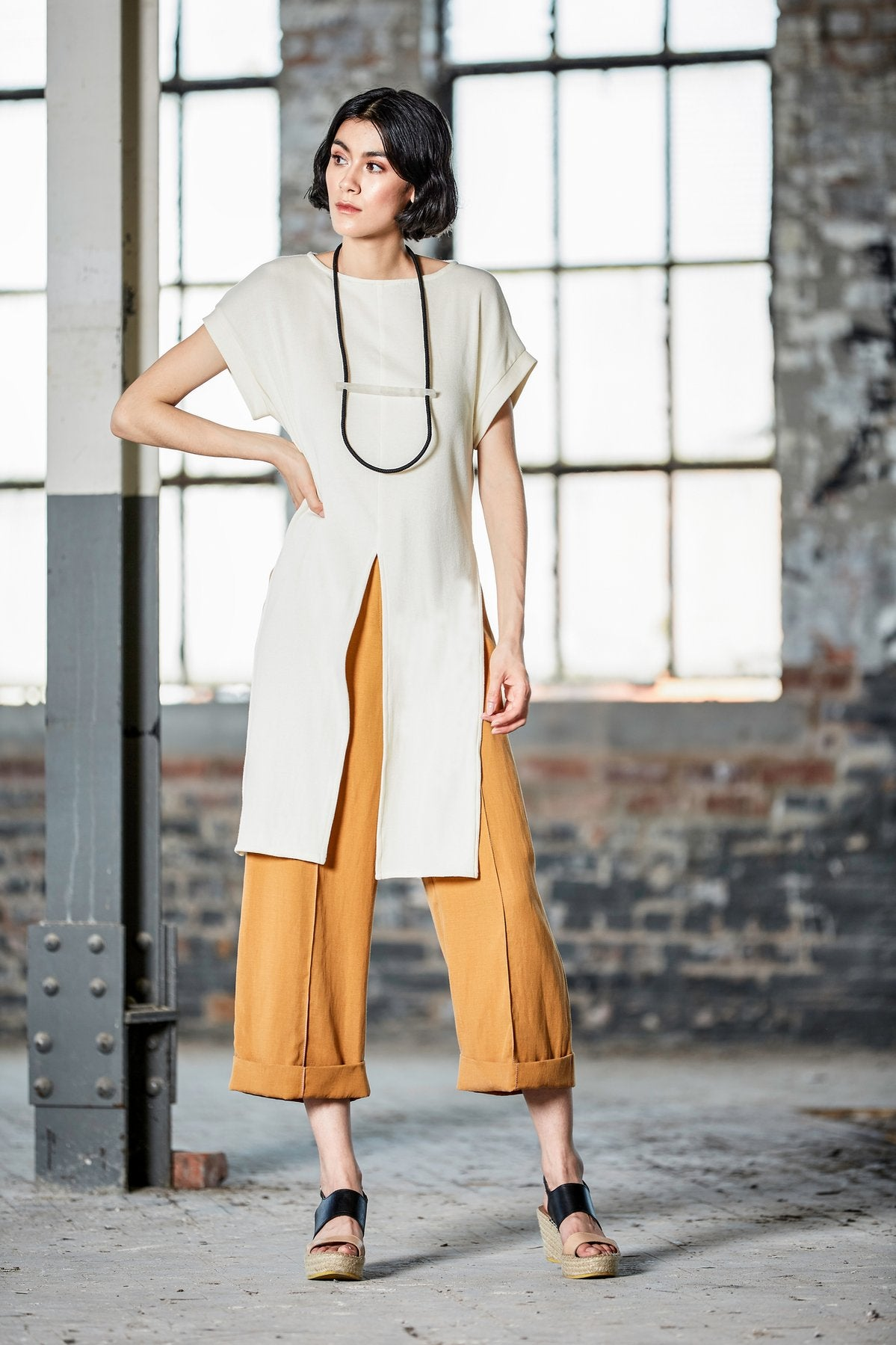 Ashtar Cropped Wide Leg Pants