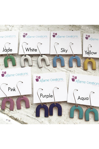 Arch Earrings - Various Colours