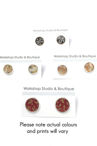 Resin Stud Earrings - assorted colours
