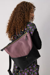 Atwood  - Laptop  Backpack - Mauve Recycled Leather