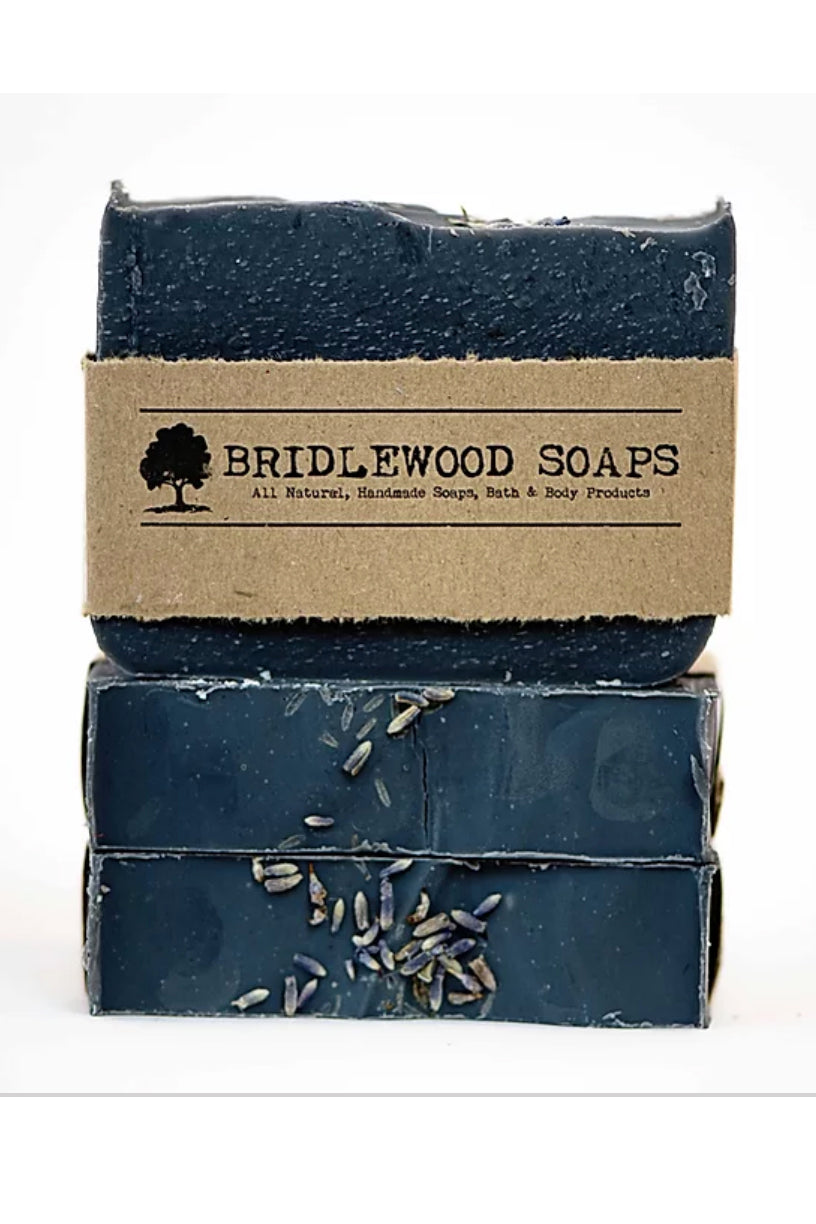 BRIDLEWOOD SOAPS Avocado Charcoal Soap Bar (stacked)