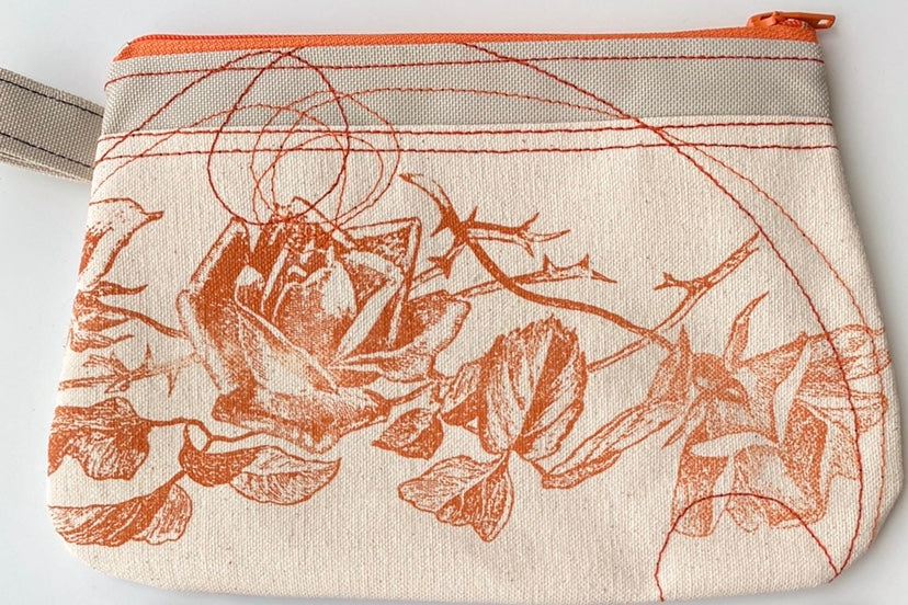Cynthia DM waterproof pouches-Roses and Moth