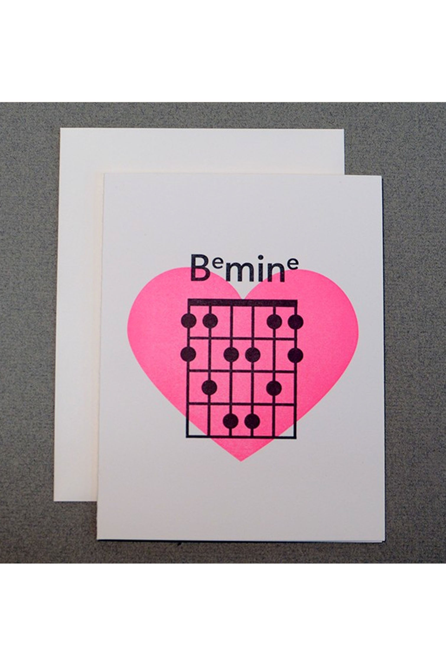 Guitar Chord Be Mine Inkwell Originals Card