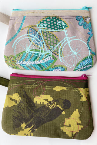 Cynthia DM waterproof pouch-Bicycle and Falcon