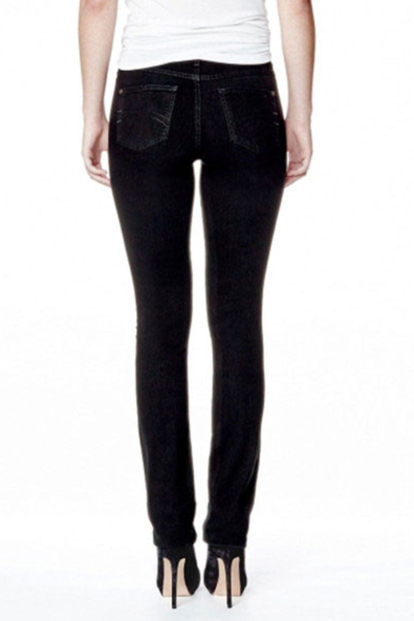 Yoga Jeans in High Rise Skinny Overdye Black Sizes 24-34 Made in Canada