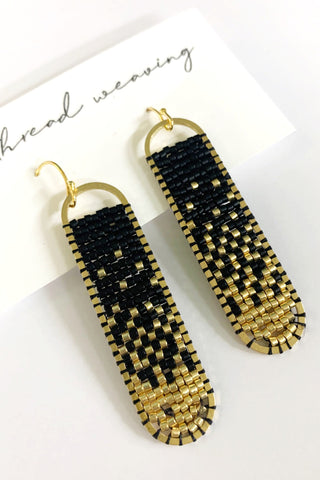Freya Beaded Earrings - Black to Gold Ombre