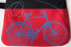 Cynthia DM waterproof pouches-Cherries and Bicycle