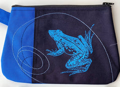 Cynthia DM waterproof pouch-Blue Frog and Blue Falcon