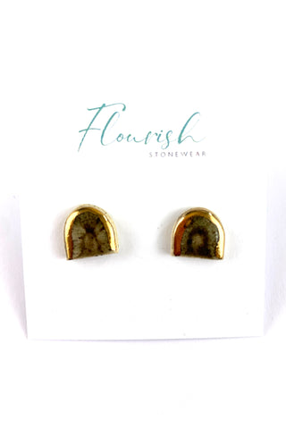 Arch Studs with Gold Lustre