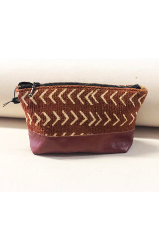 La Trousse - Rust Chevron Fabric Pouch