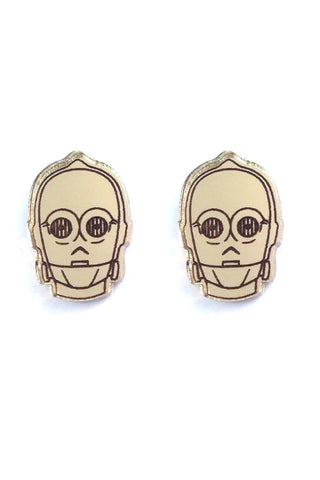Lili0410 Star Wars C3PO Earrings