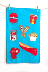 Canadian Tea Towel Blue