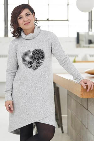 RIEN NE SE PERD Capricorne Dress in Light Grey HEART FW2020/2021 (styled)