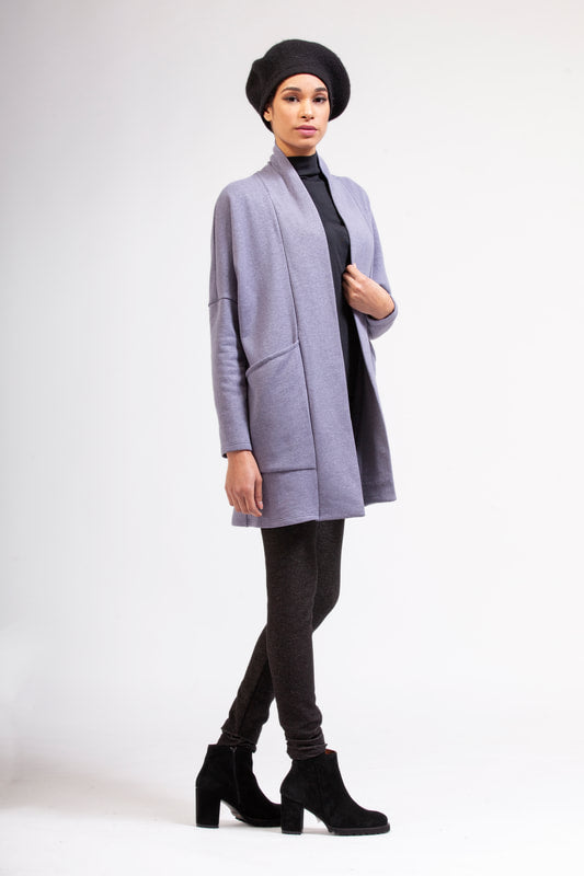 RAMONALISA Yamnuska Eco-Fleece Cardigan FW2020/2021 (full-length, side view)