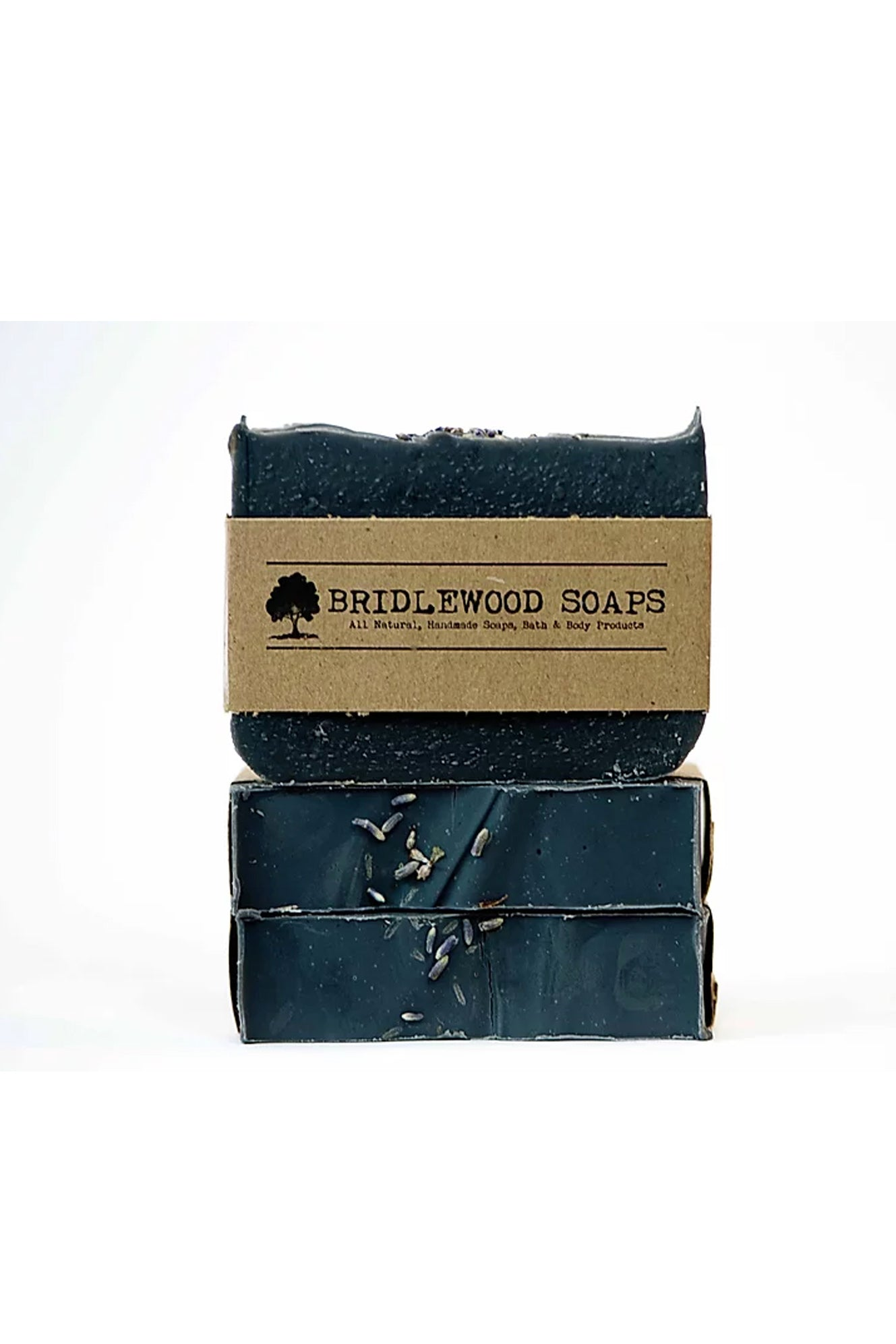 BRIDLEWOOD SOAPS Charcoal Silk and Honey Shampoo Bar (stacked)