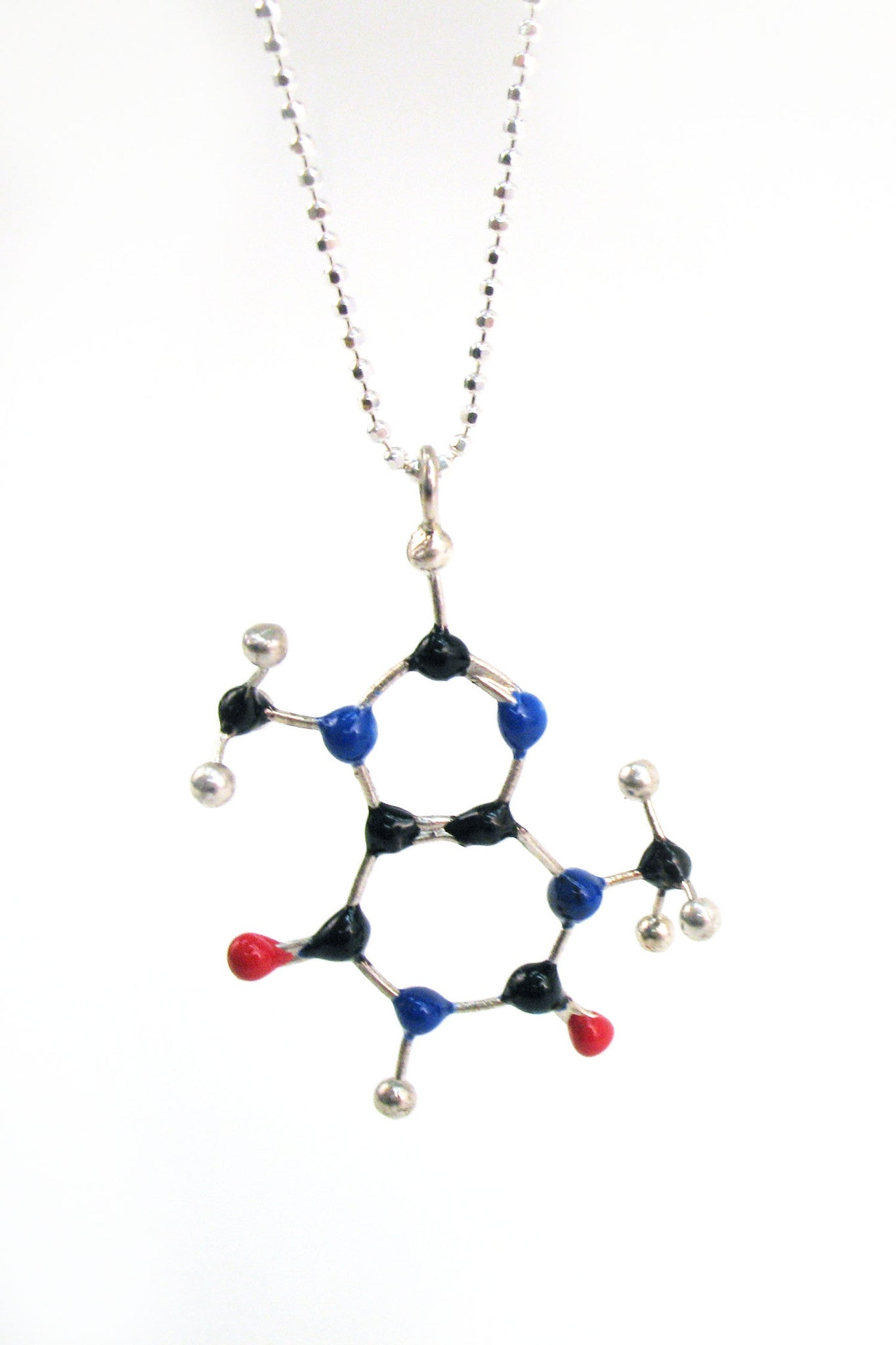 Hey Chocoholics! Wear your vice with this slash pile Chocolate Molecule necklace